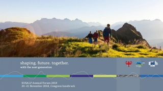 "The youth project competition ""Your Alps! Your Future! Your Idea"" calls for application until October 31st"