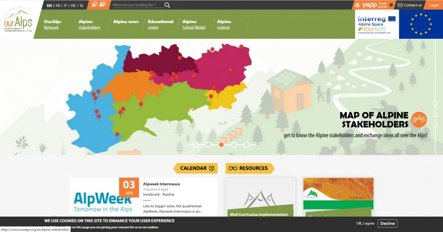 OUrALPS an International Network of Mountain-oriented Education in the Alps
