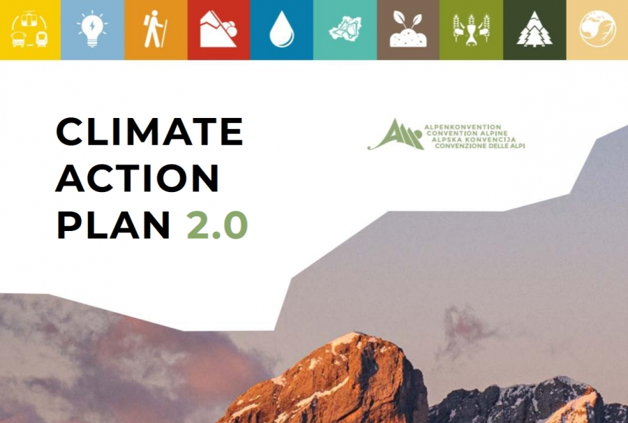 Publication of the Climate Action Plan 2.0 of the Alpine Convention