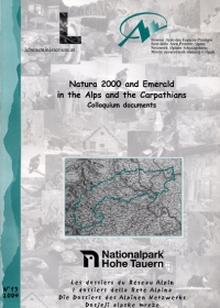 Dossier N°13 : Natura 2000 and Emerald: Implementation in the Alps and the Carpathian – Situations and methods exchange between Alpine and Carpathian protected area managers