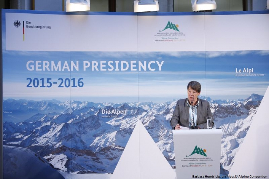 Germany takes over the presidency of the Alpine Convention